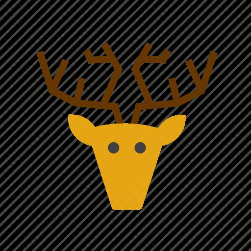 animal, deer, face, head, hunting, moose, trophy icon