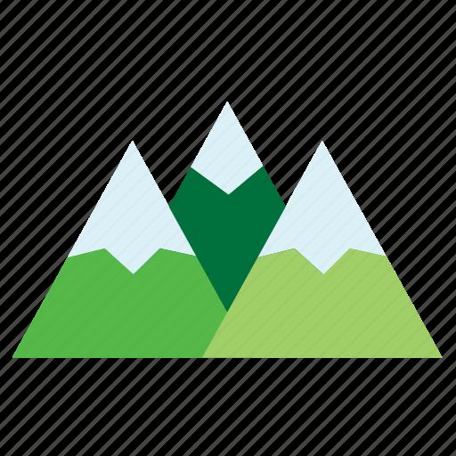 chain, mountain, nature, snow, winter icon