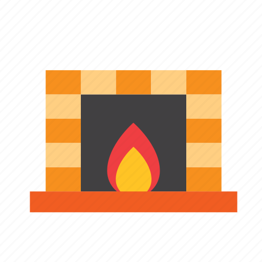 christmas, december, fire, fireplace, holdiays, winter, xmas icon