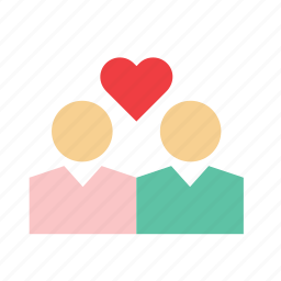 couple, heart, i love you, in love, love, people, romance icon