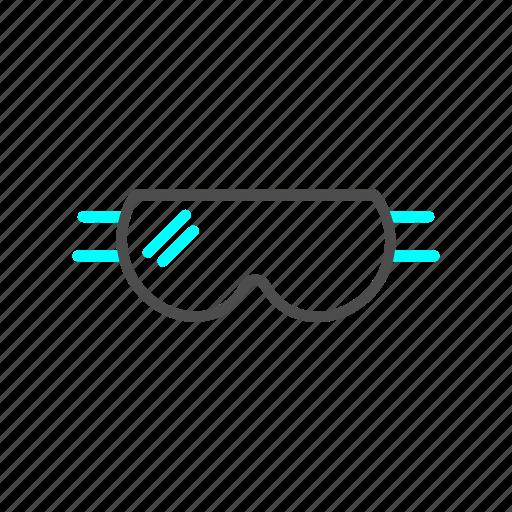 goggles, outline, ski, snow, winter icon