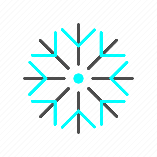 cold, ice, outline, season, snow, winter icon