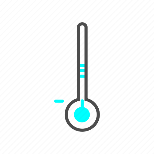 cold, outline, thermometer, winter icon