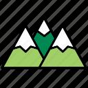 chain, mountain, mountain chain, mountains, nature, snow, winter
