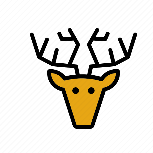 animal, deer, face, head, hunting, moose, trophy icon