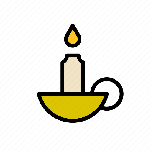 candle, candlestick, christmas, flame, holder, light, winter icon
