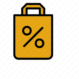bag, discount, paper, perecentage, price, sale, sales icon