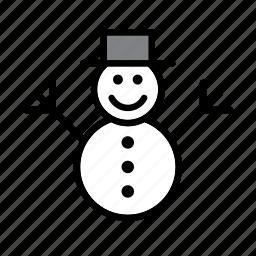 christmas, december, holidays, snow, snowman, winter, xmas icon