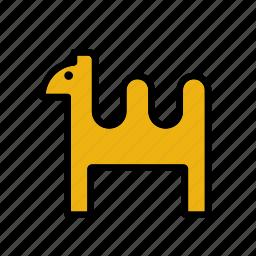 animal, camel, christmas, desert, dromedary, xmas icon