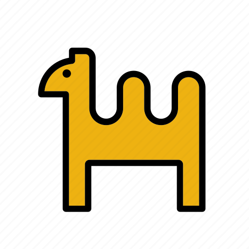 animal, camel, christmas, desert, dromedary, xmas icon