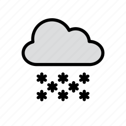 cloud, december, snow, snowy, weather, winter icon