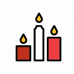 candle, candles, christmas, fire, light, winter, xmas icon