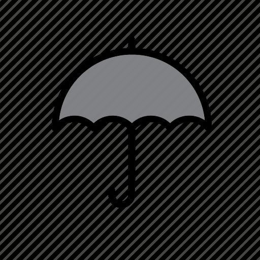 accessory, rain, raining, rainy, umbrella, weather icon