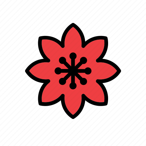 christmas, flower, holidays, nature, red, winter, xmas icon