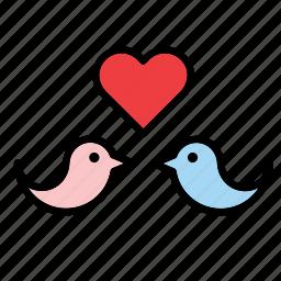 animal, bird, birds, heart, i love you, in love, love icon
