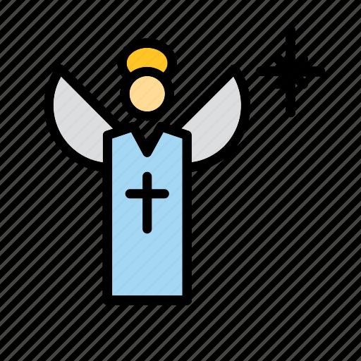 angel, catholic, christianity, christmas, holidays, religion, xmas icon