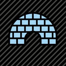 building, construction, eskimo, house, ice, igloo, winter icon