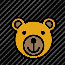 animal, bear, face icon