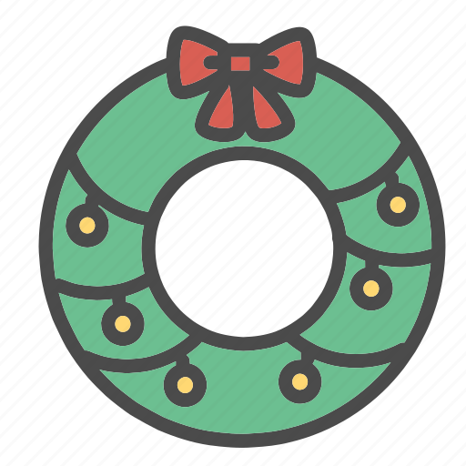 christmas, decorations, holiday, ornaments, tree, wreath, wreaths icon