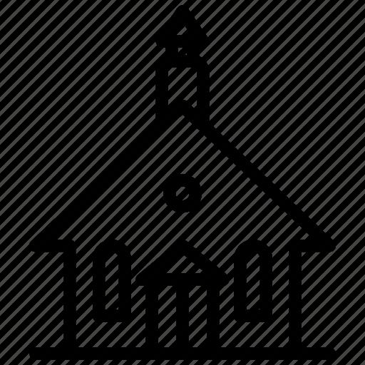 building, christian, church, culture, fate, pray, religion icon