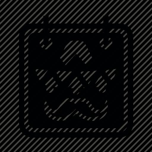 calendar, cinco, de, mayo icon