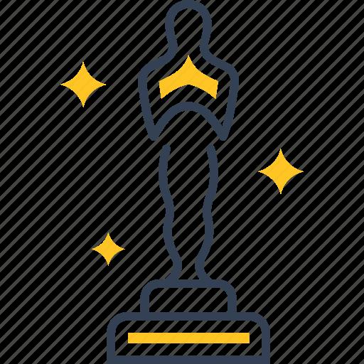 cinema, movie, oscar, win icon