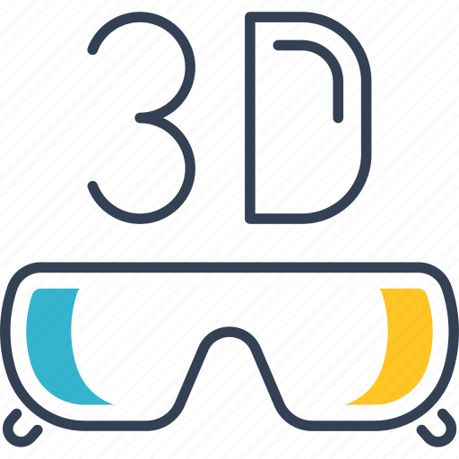 Cinema, glasses, movie, theatre icon - Download on Iconfinder