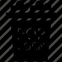cinema, corn, entertainment, film, food, movie, popcorn, snack icon