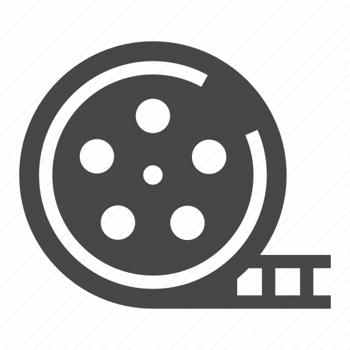 cinema, movie, movie reel, reel icon