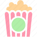 cinema, corn, entertainment, film, food, movie, popcorn, snack icon