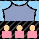 audience, auditorium, cinema, cinema hall, movie theater, stage, theater, theater stage icon