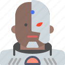 cyborg, dccomics, hero, movie, superhero icon