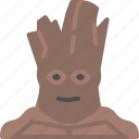 galaxy, groot, guardian, movie, space icon