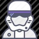 knight, soldier, space, starwards, starwars, trooper icon