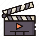 cinema, clapperboard, entertaiment, movie