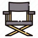 chair, cinema, director, entertaiment, movie