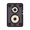cinema, entertaiment, movie, speaker icon