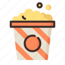 cinema, entertaiment, movie, popcorn icon