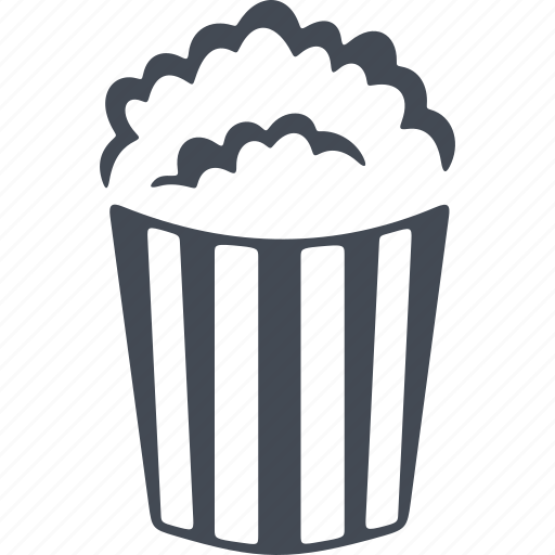 cinema, cup of popcorn, film, glass, popcorn icon
