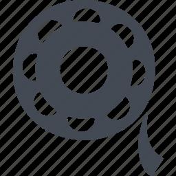 cinema, film, record, reel of film, video icon