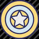 circular, circular star, favorite, like icon