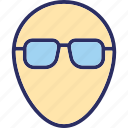 avatar, face, face with glasses, human face icon
