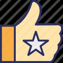 admired, enjoyed, favourite, liked icon