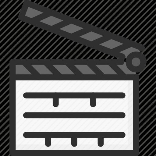 Cinema Clap Clapboard Movie Scene Icon