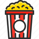 cinema, corn, pop, popcorn icon