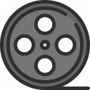 bobbin, cinema, movie, tape icon