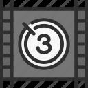 cinema, countdown, frame, movie, tape icon