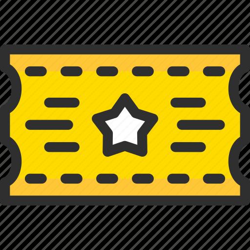 access, cinema, pass, ticket icon