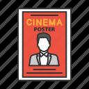 actor, celebrity, cinema, film, movie, poster, theater icon
