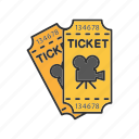 cinema, film, movie, pass, premiere, ticket, tickets icon